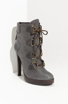 <3 Gray Distressing AND Buckles!                          Tory Burch 'Lawson' Bootie