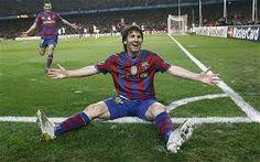 Messi celibates goal against Arsanal