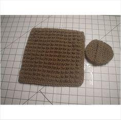 1 Nubby Dishcloth - 1 Scrubber - Light Brown - 8 1/2 x 8 1/2