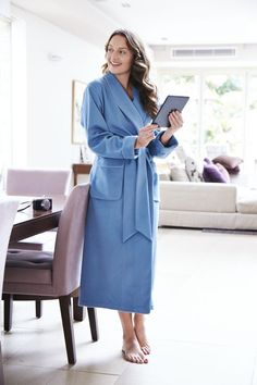 73c7490e08 Luxury Ladies Cashmere Plain Silk-Lined Robe Cashmere Robe