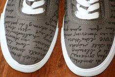 DiY Shoe Fun- Sharpie Fabric Markers + Canvas shoes!    Circles Of Sunshine