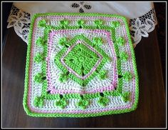 Lucky Charms WWBAMCAL square pattern by Donna Kay Lacey  #crochet