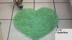 $34.99 Light Green Heart Premium Chenille Luxury Bathroom Bath Mat Rug     Get it here: http://astore.amazon.com/ffiilliipp-20/detail/B00640ENZ8/180-9213149-5947358