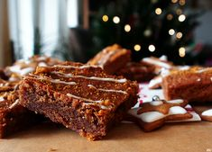 Christmas Baking, Brownies, Gingerbread Recipes, Cookies, Desserts, December, Book, Inspiration, Tailgate Desserts