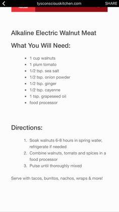 "Walnut ""Meat"" (as is) Alkaline Diet Recipes, Raw Food Recipes, Healthy Recipes, Ketogenic Diet Weight Loss, Ketogenic Diet For Beginners, Vegan Foods, Vegan Dishes, Vegan Keto, Raw Vegan"