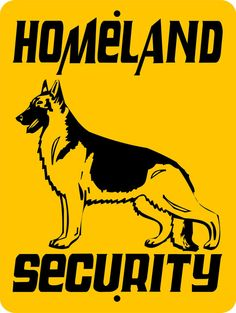 GERMAN SHEPHERD Dog Sign 9x12 ALUMINUM 3269 by animalzrule on Etsy, $12.00