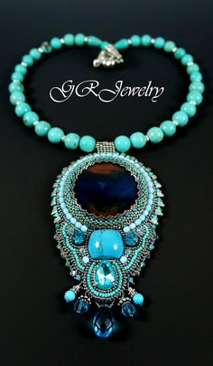 Turquoise and Agate by Guzialia Reed