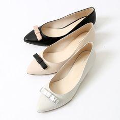オゥ バニスター Au BANNISTER Au/リボンパンプス (WHT)-「買ってから選ぶ。」靴とファッションの通販サイト ロコンド