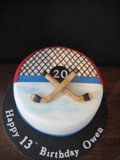 cute cake! http://www.cakeseverafter.com/images/portfolio/Hockey%2520Cake.jpg