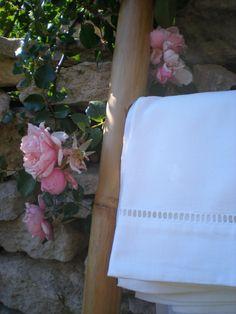 Vintage French linen bed Sheet 100  cotton. White por LouDrap