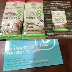 Thanks for the samples of Illumin Plant-Based Organic Meal; it's rich and delicious @Socialnature #trynatural #gotitfree
