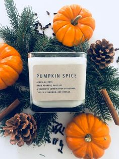 image 0 - Fall Candles - Ideas of Fall Candles Fall Candles, Diy Candles, Soy Wax Candles, Candle Branding, Candle Packaging, Candle Pics, Purple Colour Shades, Pumpkin Spice Candle, Fall Scents
