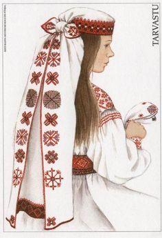 Rahvarõivad of Tarvastu, Estonia    Artist:Mari Kaarma