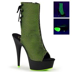 Pleaser Womens Open ToeHeel Ankle Boot Side Zip BlkNeon Lime FishnetBlk Matte Size 10 >>> Details can be found by clicking on the image.(This is an Amazon affiliate link and I receive a commission for the sales)