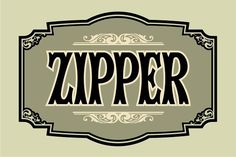 Zipper by Art And Sign Unlimited on @creativemarket