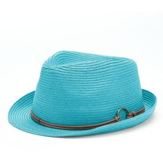 Peter Grimm Anita Straw Fedora ($30) ❤ liked on Polyvore featuring accessories, hats, blue, peter grimm hats, straw fedora hat, fedora hat, straw hats and brimmed hat