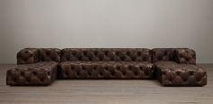 Soho Leather Sectionals | Restoration Hardware
