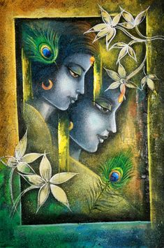 radha, radha krishna, radhe sham, radha with krishna, radha krishna with flower Pichwai Paintings, Indian Art Paintings, Fantasy Paintings, Mural Painting, Mural Art, Krishna Painting, Krishna Art, Krishna Images, Radhe Krishna