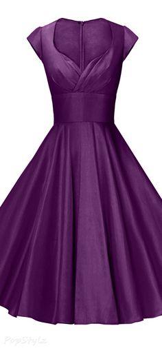 1950s Vintage Stretchy Swing Dress