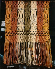 From a vintage macrame book.