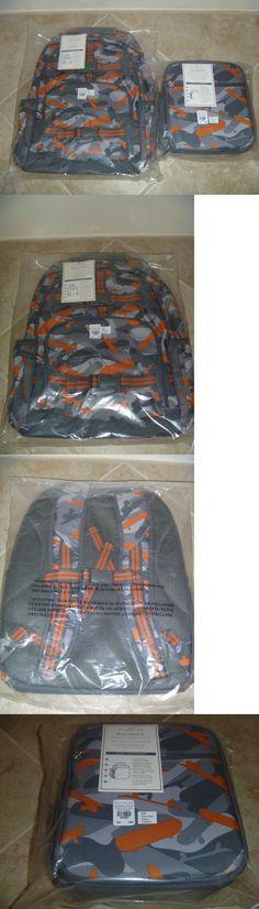 Backpacks and Bags 57882: Boys Pottery Barn Kids Mackenzie Orange Camo Skateboard Lg Backpack, Lunch Bag -> BUY IT NOW ONLY: $79.99 on eBay!