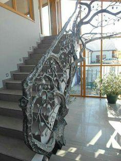 Absolutely GORGEOUS stair railing by Zagórski Blacksmiths  http://www.zagorskikuznia.pl/en/