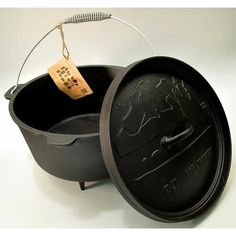 Old Mountain Cast Iron Preseasoned 8qt Dutch Oven with Feet