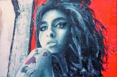 Club 27 - Amy www. Sanaa Lathan, Toni Braxton, Amy Winehouse, Celebrity Babies, Halle Berry, Aaliyah, Michelle Obama, Portrait Art, David Bowie
