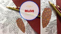 Como fazer efeito relevo com lixa no desenho - Jardim Mágico/Magic Garde...