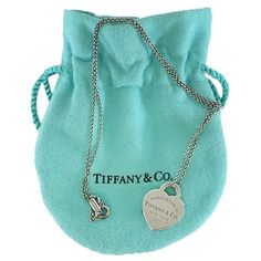 Pre-owned Tiffany & Co. Return to Tiffany Heart Tag Pendant Necklace ($79) ❤ liked on Polyvore featuring jewelry, necklaces, heart jewelry, pendant necklace, chain pendant necklace, necklace heart pendant and heart shaped necklace