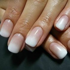 An ombré twist on the classic French mani!