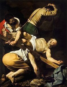 Crucifixión de San Pedro, Caravaggio, 1601 Óleo sobre lienzo • Barroco 230 cm × 175 cm Santa María del Popolo, Roma