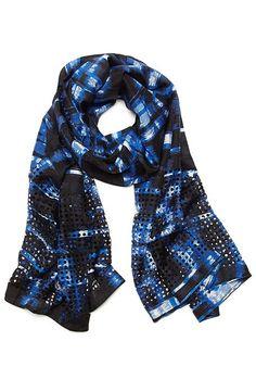 Brushstroke Plaid Scarf - Accessories - Womens Sale - Armani Exchange