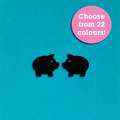 1 Pair Mini Pigs Laser Cut Acrylic Earring Supplies - Choose from 22 Colours