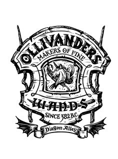 olivanders wands logo. I used word to resized this image and printed on sticker paper to use for wand tags.