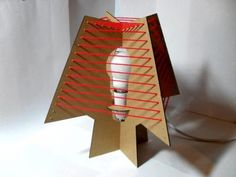 Pecto Table Lamp by BA Product Design Students, Reuse Material: Cardboard packaging boxes