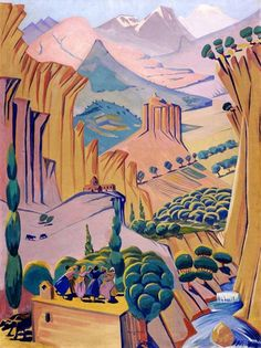 Armenia - Saryan, Martiros (Armenian, 1880 - Fine Art Reproductions, Oil Painting Reproductions - Art for Sale at Galerie Dada Armenian History, Armenian Culture, Paint By Number Kits, Creative Activities, Paint Set, Art Reproductions, Diy Painting, Great Artists, Landscape Paintings