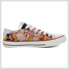 1739a41dd29e5a Converse All Star Low Customized personalisierte Schuhe (Handwerk Schuhe)  Slim Stanlio e Ollio TG46