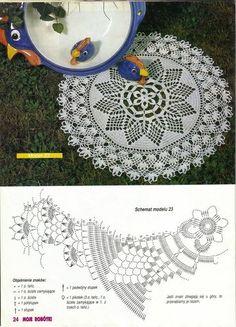 """Photo from album """"Moje robotki on Yandex. Crochet Angel Pattern, Crochet Doily Diagram, Crochet Motifs, Crochet Potholders, Thread Crochet, Crochet Doilies, Crochet Lace, Crochet Stitches, Doily Patterns"""