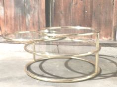 Mid Century Modern Brass and Glass Coffee Table Regency 3TIERED Swivel Excellent | eBay