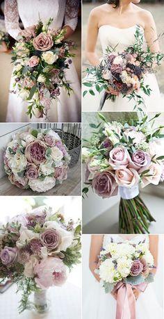 mauve shade of purple wedding bouquets