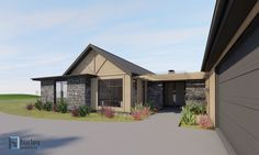 Concept for a new Country House located in rural Pukekohe.  Home Design New Zealand. Auckland Waikato Coromandel