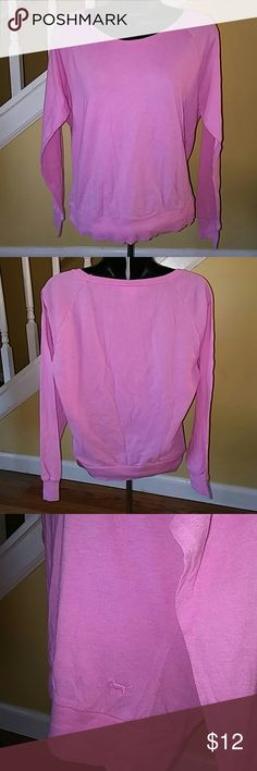 Women's Pink Victorias Secret Lg Sleeve Top Small Small cotton poly blend. Pink. Long sleeve. Super cute. PINK Victoria's Secret Tops Tees - Long Sleeve
