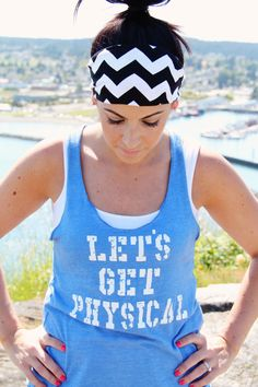 CHEVRON FitHappy Workout Headband in BLACK Crossfit by FitHappy, $15.00