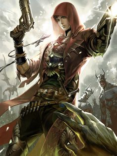 Artist: Sookyung Oh aka Osuk2 - Title: Legend of the Cryptids - Card: Dual Wielding Visionary