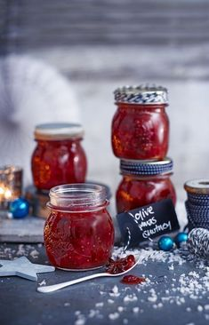 A classic spiced chutney to serve with cheese or cold cuts. The flavour gets mellower and deeper the longer it's left, so give it at least a week before diving in. Xmas Food, Christmas Cooking, Chutneys, Antipasto, Christmas Chutney, Relish Sauce, Plum Chutney, Plum Recipes, Jelly Recipes