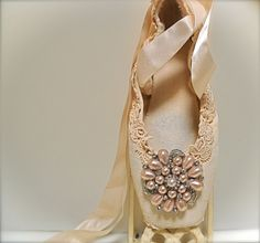 great DIY idea for used pointe shoes