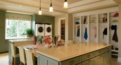 craft/ laundry room/mudroom - what a great idea!