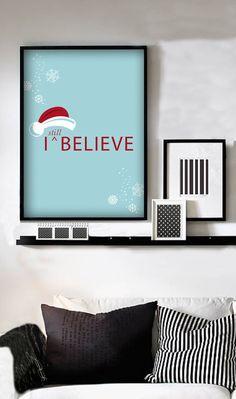 """""""I Still Believe in santa-Santa Hat"""" 5x7 print for $10.88 <3PenyaDS"""