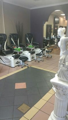 See photos, tips, similar places specials, and more at differenztrenz salon and spa Barbershop, Calgary, Salons, Spa, Patio, Places, Outdoor Decor, Home Decor, Barber Shop